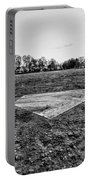 Baseball - Home Plate - Black And White Portable Battery Charger by Paul Ward