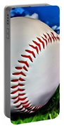 Baseball In The Grass Portable Battery Charger