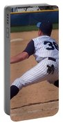 Baseball Pick Off Attempt Portable Battery Charger