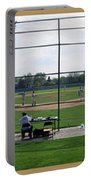 Baseball Playing Hard 3 Panel Composite 01 Portable Battery Charger