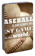 Baseball Print With Babe Ruth Quotation Portable Battery Charger