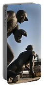Baseball Statue At Citizens Bank Park Portable Battery Charger by Bill Cannon