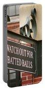 Baseball Warning Portable Battery Charger by Frank Romeo