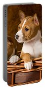 Basenji Puppies Portable Battery Charger by Marvin Blaine