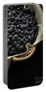 Basket Full Fresh Picked Blueberries Portable Battery Charger by Edward Fielding
