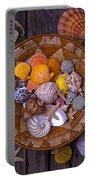 Basket Full Of Seashells Portable Battery Charger