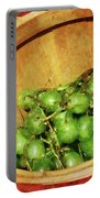 Basket Of Green Grapes Portable Battery Charger by Susan Savad