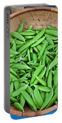 Basket Of Organic Fresh Sugar Snap Peas Art Prints Portable Battery Charger