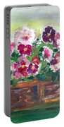 Basket Of Pansies Portable Battery Charger