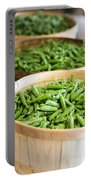 Baskets Of Fresh Picked Peas Portable Battery Charger
