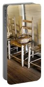 Baskets On Ladder Back Chairs Portable Battery Charger by Lynn Palmer