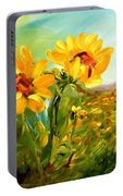Basking In The Sun Portable Battery Charger by Barbara Pirkle
