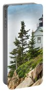 Bass Harbor Light Station Overlooking The Bay Portable Battery Charger