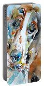 Basset Hound - Watercolor Portrait.1 Portable Battery Charger