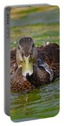 Bathing Black Duck Portable Battery Charger