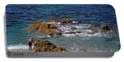 Bathing In The Sea - La Coruna Portable Battery Charger