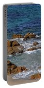 Bathing In The Sea - La Coruna Portable Battery Charger by Mary Machare