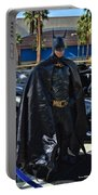 Batmobile And Batman Portable Battery Charger by Tommy Anderson