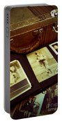 Battered Suitcase Of Antique Photographs Portable Battery Charger