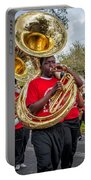 Battered Tuba Blues Portable Battery Charger