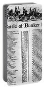 Battle Of Bunker Hill Portable Battery Charger