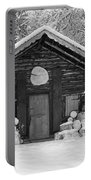 Bavarian Hut In Snow Portable Battery Charger