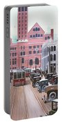 Bay Street Christmas Eve 1924 Portable Battery Charger