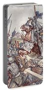 Bayard Defends The Bridge, Illustration Portable Battery Charger
