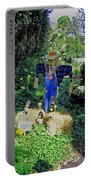 Bayou Crow Scarecrow At Bellingrath Gardens Portable Battery Charger