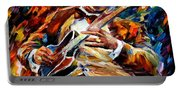 Bb King - Palette Knife Oil Painting On Canvas By Leonid Afremov Portable Battery Charger