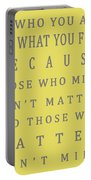 Be Who You Are - Dr Seuss Portable Battery Charger