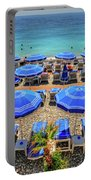 Beach At Nice France Portable Battery Charger