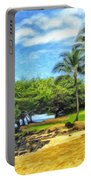 Beach At Princeville Kauai Portable Battery Charger