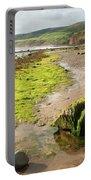 Beach At Robin Hoods Bay Portable Battery Charger by Deborah Benbrook