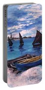 Beach At Sainte Adresse Monet Portable Battery Charger