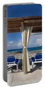 Beach Cabana With Lounge Chairs Portable Battery Charger