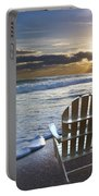 Beach Chairs Portable Battery Charger by Debra and Dave Vanderlaan