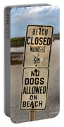Beach Closed And No Dogs Allowed Portable Battery Charger