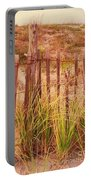 Beach Dune Fence At Cape May Nj Portable Battery Charger
