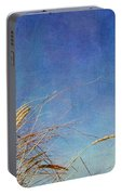 Beach Grass In The Wind Portable Battery Charger