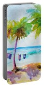 Beach House Tropical Paradise Portable Battery Charger