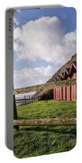 Beach Huts At Branscombe Portable Battery Charger