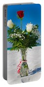 Beach Mark Island Girl Flowers Portable Battery Charger