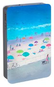 Beach Painting - Happy Days Portable Battery Charger