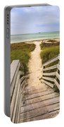 Beach Path Portable Battery Charger by Adam Romanowicz