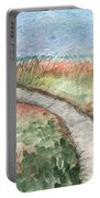 Beach Path Portable Battery Charger by Linda Woods