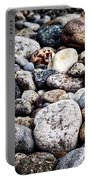 Pebbles On Beach Portable Battery Charger