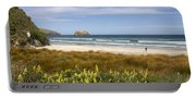 Beach Scene Otago Peninsula South Island New Zealand Portable Battery Charger