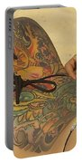 Beach Tattoo Portable Battery Charger by Stuart Litoff