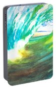 Beach View From Wave Barrel Portable Battery Charger